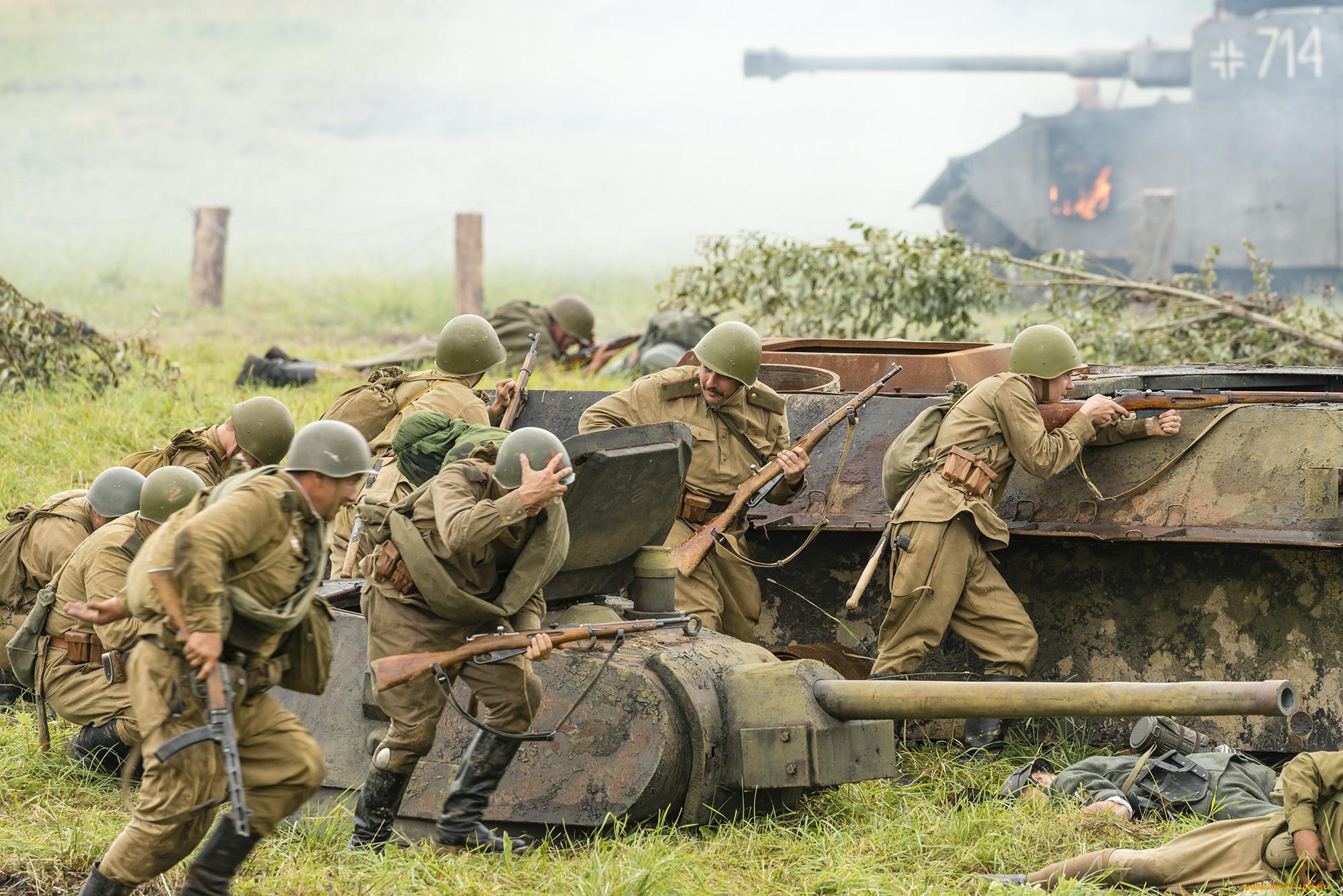 Картинка солдаты идут в бой